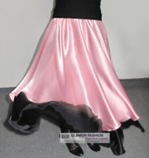 Full Circle Satin Skirt Long Skirt XS ~ 3XL #GF0688T