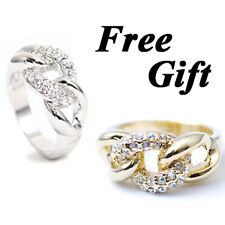 "[Korean] Shiny High Top Quality ""THICK CHAIN w/ STONEs"" Women Lady Fashion Ring"