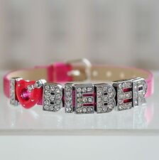 Justin Bieber I Love Bieber Bracelet / Wristband with Free Gift Bag Choose In