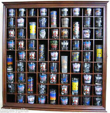 Large 71 Shot Glass Display Case Rack Holder Wall Cabinet, Glass Door,