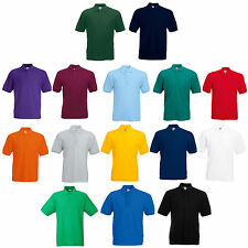 FRUIT OF THE LOOM POLO SHIRT ALL SIZES S, M, L, XL, XXL