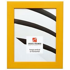 "Craig Frames Colori, 1.25"" Modern Yellow Picture Frame"