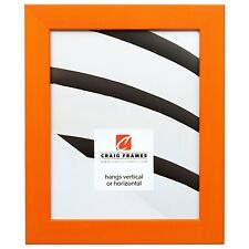 "Craig Frames Colori, 1.25"" Modern Orange Picture Frame"