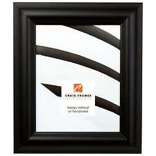 """Picture Frame Smooth Satin Black 2"""" Wide Complete New Frame (88079)"""