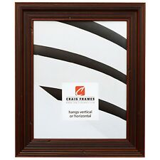 "Craig Frames Barnwood Rustic, 1.5"" Dark Brown Solid Wood Picture Frame"