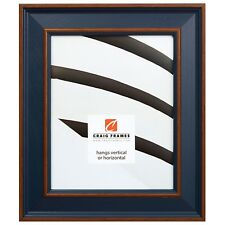"""Picture Frame Country Blue 2"""" Wide Complete New Wood Frame (62405051)"""