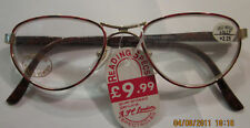 LADIES MOTTLE  RED READING GLASSES SPRING HINGES IN ALL STRENGTHS RS72