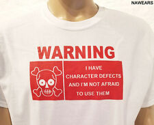 Narcotics Anonymous - Warning Defects T-shirt - 2 sided white with red ink