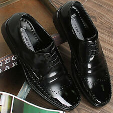 New Handmade Leather Mens Dress Casual Shoes Lace up Oxfords Black Limited