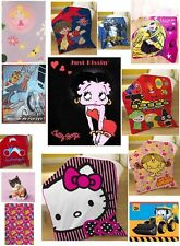 CHILDRENS NOVELTY / TV CHARACTERS BOYS / GIRLS FLEECE BLANKETS / WRAP / SNUGGLE