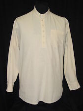Mens Old West Frontier Trek natural muslin button up 100% cotton shirt S-XXL NEW