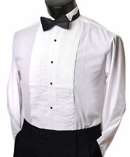 Tuxedo Shirt w/ BOW tie Wing collar all sizes mens formal wedding shirt NEW!