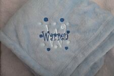 Personalized Monogrammed Baby Stroller Blanket Boy or Girl GREAT GIFT!