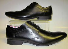 "Clarks"" Glint Street"" Classic Mens Black Leather Lace Up Shoes"