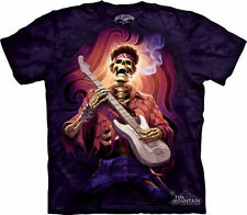 DEAD GROOVY - Purple Tie Dyed Jimi T-Shirt-Mountain Skulbone-100% Cotton-10-6255