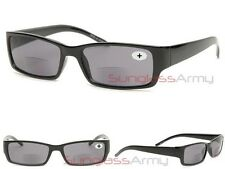 Square Frame Bifocal Reading Glasses / Sunglasses