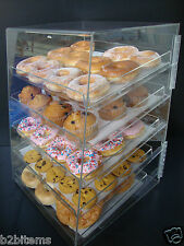Acrylic Pastry Bakery Donut Bagels Cookie Display Case with  trays CUPCAKE stand
