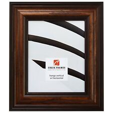 """Craig Frames Various Brown 2.5"""" Wood Colonial Single Picture Frame Poster Frame"""