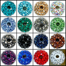 8mm Round Ball Pave Crystal Rhinestone Loose Spacer Beads Jewelry DIY Findings