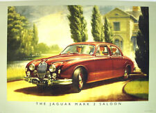 Jaguar Mark II Saloon Poster Picture Print A1