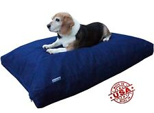 HEAVY DUTY MEMORY FOAM PET DOG BED PILLOW with Water Resist CASE + DENIM COVER