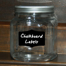 5 CHALKBOARD VINYL LABELS..Organize Kitchen Pantry Canisters..wall decal sticker
