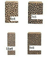Leopard Animal Print paper Gift Bags 6x4, 7x5, 9x6, or 11x4  100pc *FREE ship