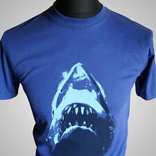 Jaws Retro Movie T Shirt Amity Brody &0's Shark Classic Cool Hipster