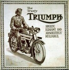 Vintage Old Transport Poster The Trusty Triumph Print Art A4 A3 A2 A1