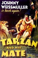 Vintage Old Movie Poster Tarzan And His Mate 1934 Print Art Canvas A4 A3 A2 A1