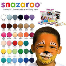 Snazaroo 18ml Water Based Reusable Face Paints Painting Pots CHOOSE COLOURS