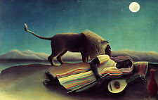 Henri Rousseau The sleeping gipsy  - Stretched Giclee Print Canvas