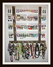 """TEEN"" Glitzy Girl Earring Holder & Jewelry Display **Organizer"""" Pick A Fabric"