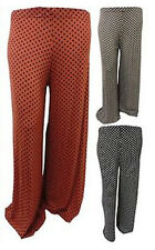 NEW LADIES PLUS SIZE POLKA DOT  PALAZZO TROUSERS SPOTTED WIDE LEG PANTS 12-26