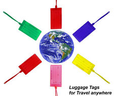 Jelly Luggage Tags Made in USA Name Address ID Suitcase Bag Travel Name Number