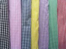 GINGHAM SCHOOL DRESS SMALL CHECK PATCHWORK QUILTING FABRIC various COLOURS