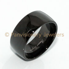 9MM Black IP Classic Dome Polished Tungsten Carbide Ring Wedding Band