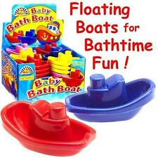 Choose! 4, 8 12, 24, 36 x Toy BABY BATH BOATS 4 different colours Bath Time Fun!