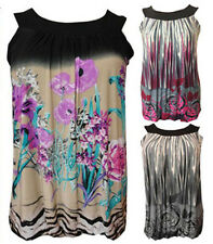 NEW WOMENS PLUS SIZE FLORAL TUNIC TOPS LADIES PRINTED BUBBLE TUNIC TOPS 14-28