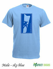 Rock Climbing Wall Climb Indoor Outdoor Mens T-SHIRT M-2XL FREE P&P - sky blue