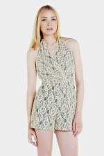 *SAVE 50%* Lace Halter Playsuit by Ark and Co.