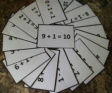 Reception Class / EYFS First Maths Flash Cards x 20. Available in 6 colours!