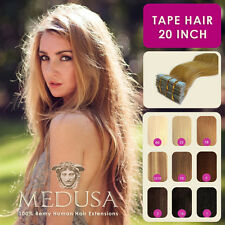 "Medusa Skin Weft Tape 100% Human Remy Hair Extensions 20"" 40pc Full Head & 20pc"