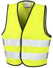 High Visibilty Safety Vest Boys Girls Hi-Vis Age 3 4 5 6 7 8 9 10 11 12 Years