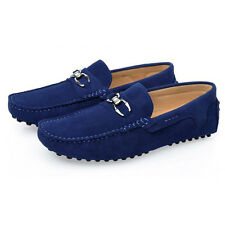 US 6 7 8 9 10 11 Softy Suede Leather Mens Loafer Slip On Shoes 5 Colors  [JG]