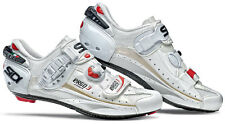 Sidi America Ergo 3 Vent Carbon Road Bike Shoes White Vernice Standard Width