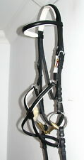 FSS German COMFORT WHITE Padded Poll Mexican Grackle Figure 8 Noseband Bridle