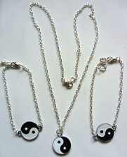 Chinese Feng Shui Ying / Yin Yang Charm Pendant Surf Jewellery with Silver Chain