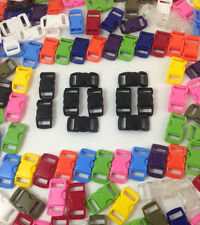 """100 3/8"""" Curved Side Release Buckles ~ Paracord Bracelets ~ USA ~ FREE PARACORD!"""
