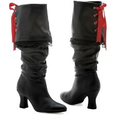 Pirate Boots for Women Adult Womens Pirate Costume Shoes Halloween Fancy Dress